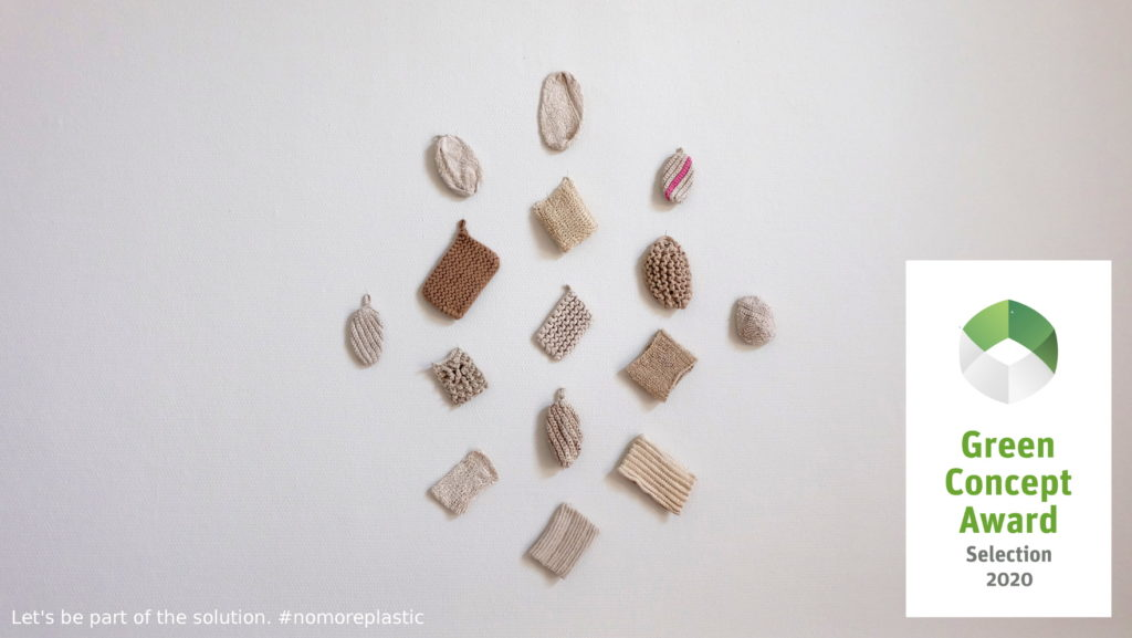 Éponge vaisselle écologique prototype de Colignon Vanessa