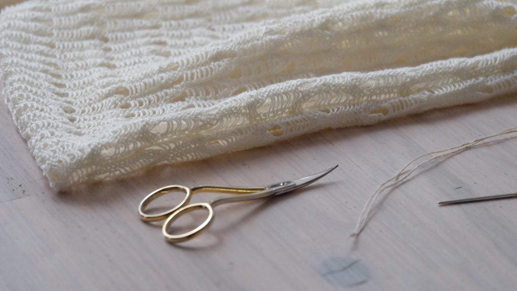 Sac à vrac prototype, chanvre tricoté en Belgique
